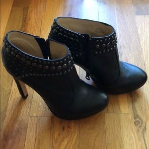 Black studded ankle bootie from BCBG